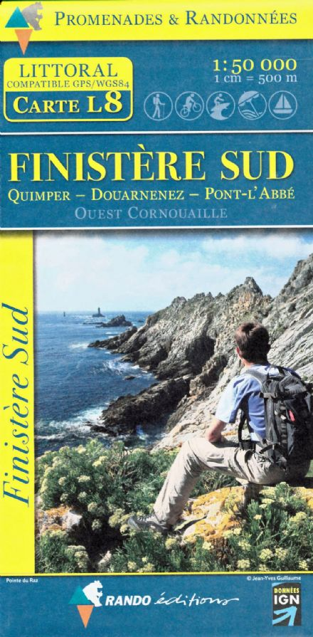 Randonnees Finistere South Map L08 - 1:50,000